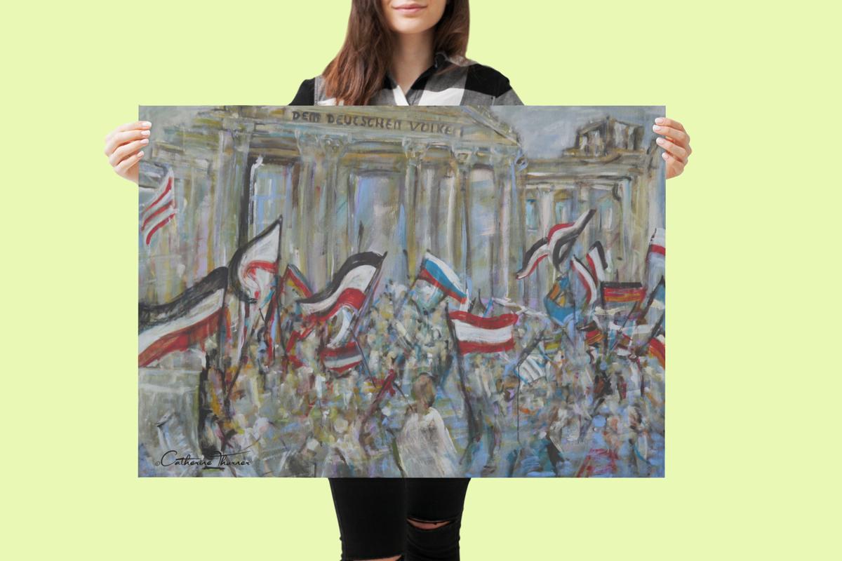"""Poster 80x60 - """"DEM DEUTSCHEN VOLKE"""" by Catherine Thurner"""